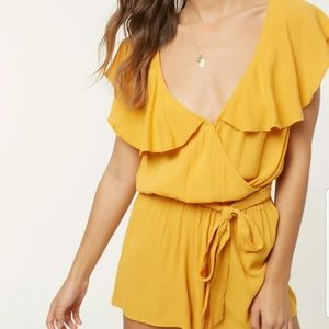 O'Neill Dash Cover Up Romper in Sunflower